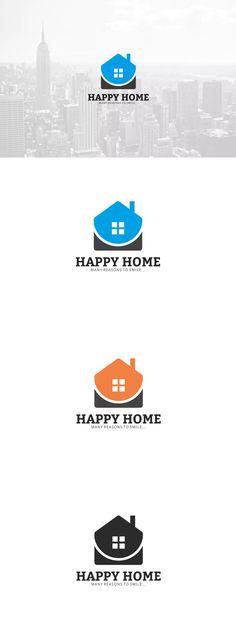 Happy Home Logo Template AI, EPS