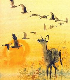 Bambi gyermekei Illustrated by Mirko Hanak