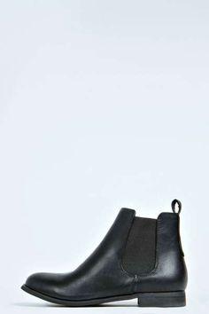 Alice Elastic Insert Flat Chelsea Boot at boohoo.com