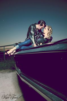 One for the couples - great pose with the right car and the right couple.