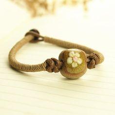 Jute flower bracelet