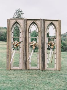 """Outdoor Wedding Ceremonies - As photographer Julie Paisley said, from the lush, autumnal florals and stunning ceremony backdrop to the sweet couple and beautiful reception, """"this Nashville wedding was beautiful on the eyes and on. Wedding Ceremony Ideas, Ceremony Backdrop, Wedding Tips, Trendy Wedding, Wedding Events, Rustic Wedding, Dream Wedding, Wedding Church, Elegant Wedding"""