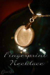 How to make a Fingerprint Necklace for Mother's Day!