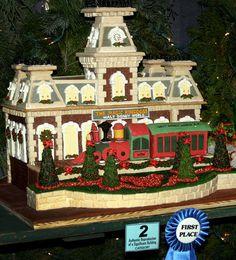 Gingerbread Disneyland train station