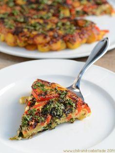 Kartoffel-Gemüse-Tortilla mit Feta