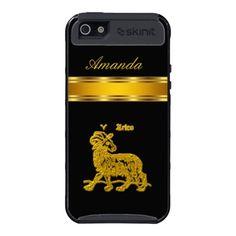 Aries Black Gold Iphone5 case iPhone 5 Case