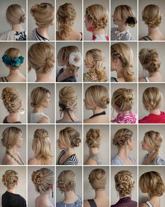 hair styles for the bridesmaids