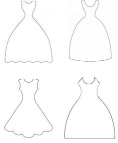 wedding dress template for card making