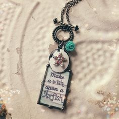 Make a wish upon a starfish soldered pendant by kolejaxdesigns, $29.95