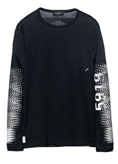795b9bf1 20213 PRINTED LS T-SHIRT_CATCH POCKET T_JERSEY MAKO Long-sleeve T-shirt in. Stone  Island Shadow ProjectBride ...