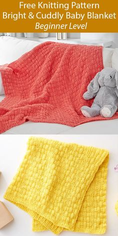 Free Knitting Pattern for Bright Free Knitting, Baby Knitting, Knitting Machine, Vintage Knitting, Beginner Knitting, Baby Patterns, Knit Patterns, Stitch Patterns, Easy Blanket Knitting Patterns