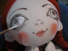 Puppet Tutorial, Doll Tutorial, Doll Face Paint, Eye Painting, Fabric Toys, Doll Eyes, Fairy Dolls, Soft Dolls, Soft Sculpture