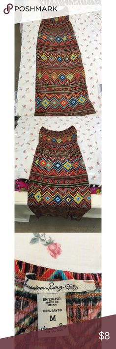 Boho strapless maxi dress Cute maxi dress matches well with the other post of the dark brown cardigan Dresses Maxi