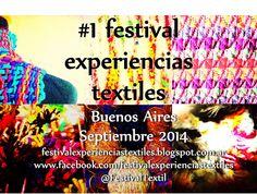 Primera edición del festival experiencias textiles: INSCRIPCIONES