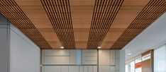 WoodWorks® Grille Tegular for ceilings and walls. Add infill panels and it's acoustical too!