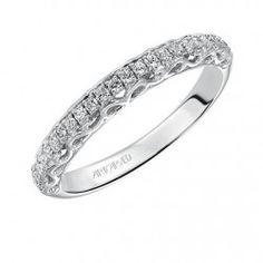 Shelly ArtCarved Diamond Wedding Ring