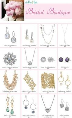 Brides...take advantage of our trunk show offer!  You (or your bridesmaids) host a trunk show and you earn your wedding jewelry for free!  Trunk shows are fun & easy.  www.StellaDot.com/JewelryCloset