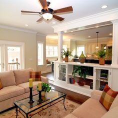 Step Down To Family Room Design Ideas, Pictures, Remodel and Decor