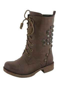 Pyramid Stud Lace-Up Boot