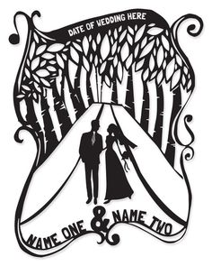 Personalized Silhouette Wedding Gift - easy and classy gift for holidays, weddings or anniversaries!
