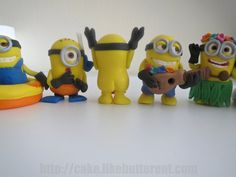 Fondant Minion Inspired Cake / Cupcake Toppers by LikeButter