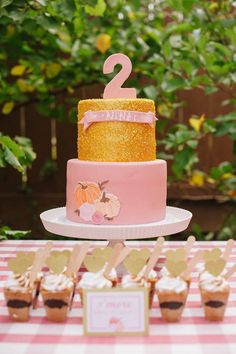 Our little pumpkin 1st birthday cake Cake creations Pinterest