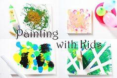 malen mit kindern leinwand ideen kinderbilder kindergarten painting with kids ideas