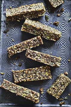 Nut-free energy bars to give you that much needed energy thru mid-afternoon. What I really like about these is that the sweetness comes from a banana and some tahini paste. Madeleine Shaw