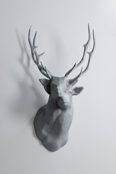 Oh my, love! Polygon Double Deer #2 sculpture geometric deer animals
