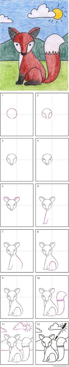 How To Draw Another Fox - ART PROJECTS FOR KIDS