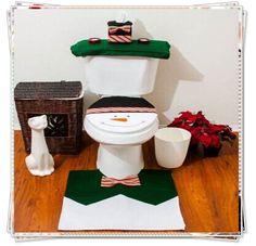Boneco de neve Seat Cover de banho Set enfeites produtos de natal suprimentos artigos de decoração enfeites de natal papai noel em Materiais para festas & comemorações de Casa & jardim no AliExpress.com | Alibaba Group