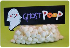 Smart Allergy~Friendly Education: Ghost Poop for the holidays! Let your favorite marshmallows be a treasured Halloween treat!