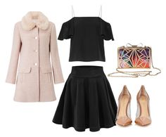 """""""Untitled #343"""" by maryfahmy ❤ liked on Polyvore featuring Fendi, Gianvito Rossi and Miss Selfridge"""