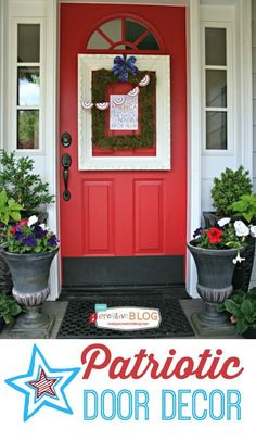 DIY Patriotic Door D