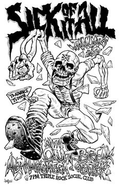 Sick of It All gig poster by billhauser on DeviantArt Gig Poster, Punk Poster, Concert Posters, Festival Posters, Arte Punk, Punk Art, Rock Posters, Band Posters, Retro Posters
