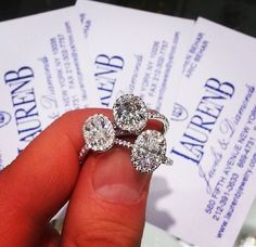 Absolutely in love! Ovals are so sophisticated! Lauren B jewelry. Beautifully elegant oval diamond engagement rings.