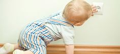 How baby proof is your house? Check out these great safety tips and tricks from nameberry! Baby Safety, Child Safety, Toddler Proofing, Electrical Safety, Baby Arrival, Childproofing, Eric Clapton, Parents, Kids Rugs