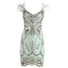Light blue special embellished dress
