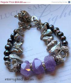 multi strand bracelet chunky charm bracelet by molliecarey on Etsy, $51.99