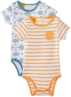 Pumpkin Patch Baby Boys 0-24m Crocodile Rock 2 Pack Sleeves Romper: Amazon.co.uk: Clothing