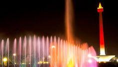 Asyik, Air Mancur di Monas Kembali 'Menari'