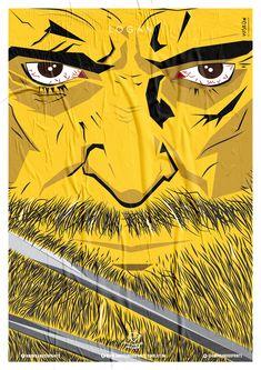 Wiskow • Amor Bandido • Pôster Série Super-Heróis Barbudos #logan #hq #quadrinhos #design #posters
