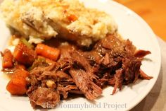 Deliciously easy pot roast in the crock pot