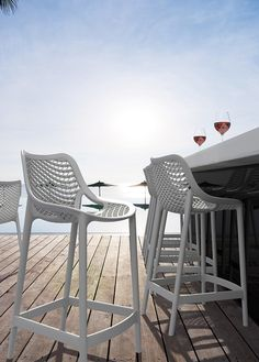 Fancy a wine? Grid Bar Stool.  Outdoor Furniture by Embellish.