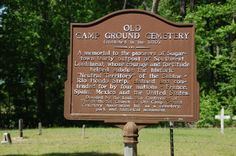 Old Campground Cemetery marker, Sugartown, LA. My ancestors are buried here.