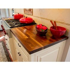 For on top on my kitchen island - Butcher Block Counter Tops - Blended Walnut 25