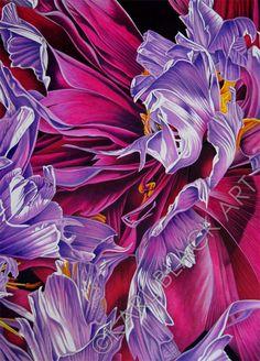 цветы и цветочные искусства, акварельной живописи и гравюры