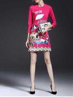 Floral-print A-line Mini Dress