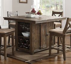 Tuscany Park Counter Height Island Table Tall Dining Room Table Counter Height Kitchen Table & A storage kitchen island and dining table in one with a beautiful ...