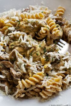 Fusilli Mushroom Mac 'n Cheese   Your whole family will LOVE this pasta! FamilyFreshCookin... — Family Fresh Cooking